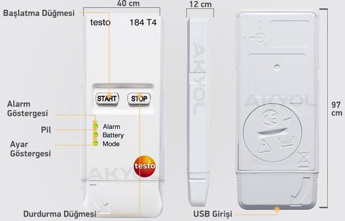 testo 184 t4 kayıt cihazı